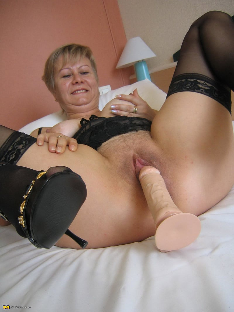 Dildo fucking with mature hot babe