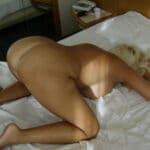 Agnès, blondasse soumise à gros cul !